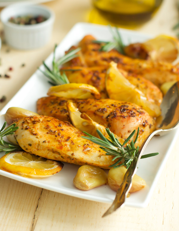 20. Rosemary Lemon Roasted Chicken Breasts .